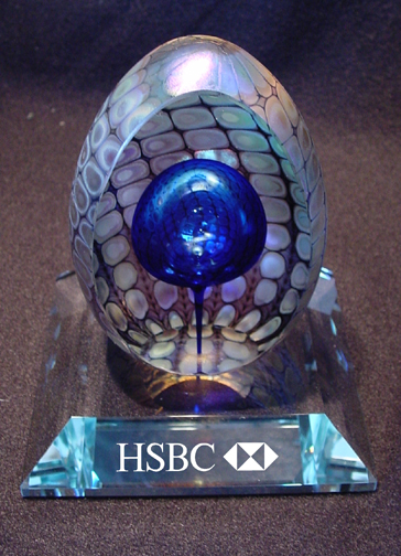 Faceted Reptilian Egg on Base