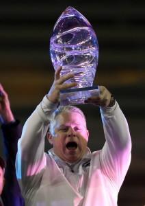 Nevada Wins AZ Bowl Trophy photo Kelly Presnell