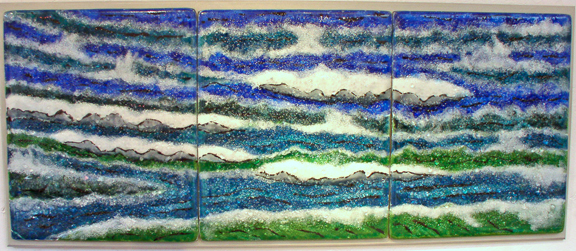 """Water"" Fused Glass by Tom Philabaum"