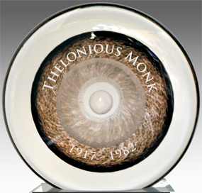 engraved glass cremation disk