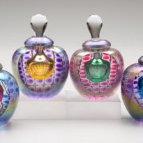 Faceted Round Perfume Bottle