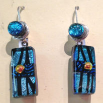 Dichroic Glass Earrings 1