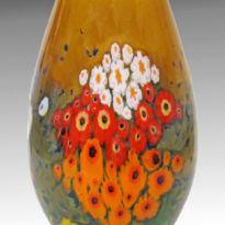 Landscape Vase in Tangerine