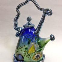 Jewel teapot blue