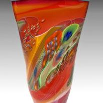 Colorfield Square Vase Red