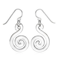Small Flat Spiral Earrings