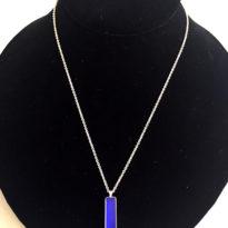 Necklace Blue Rectangle long
