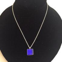 Element Necklace Square Cobalt