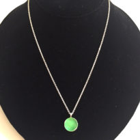 necklace mint round